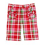 Bow Plaid Bermuda Short