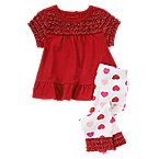 Ruffle Heart Two-Piece Set