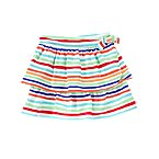 Stripe Tiered Knit Skort
