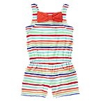 Bow Stripe Knit Romper