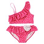Rosette Dot Two-Piece Swimsuit