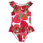 Strawberry Ruffle Swimsuit