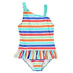 Ruffle Stripe Swimsuit