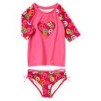Peace Sign Swim Rash Guard Set