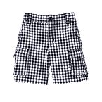 Checked Canvas Cargo Short