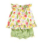 Tulip Gingham Two-Piece Set