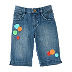 Dot Denim Bermuda Short