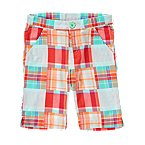 Plaid Patchwork Bermuda Short