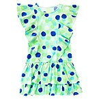 Watercolor Dot Flutter Dress