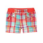Bow Pocket Plaid Short
