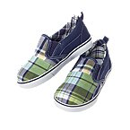 Plaid Patchwork Slip-On Sneaker