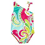 Tropical Swirl One-Shoulder Swimsuit