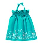 Elephant Smocked Halter Dress