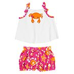 Flower Crab Two-Piece Set