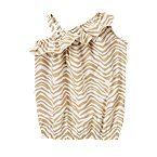 Zebra Stripe One-Shoulder Top