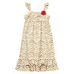 Rosette Zebra Stripe Dress