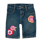 Flower Denim Short
