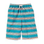 Drawstring Stripe Short