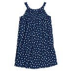 Dot Smocked Knit Dress