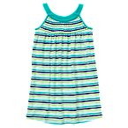 Stripe Smocked Knit Dress