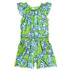 Butterfly Smocked Knit Romper