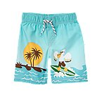 Surfing Pelican Swim Trunk