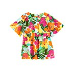 Tropical Flower Caftan Top