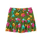 Tropical Flower Pocket Skort