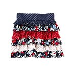 Dot Flower Tiered Knit Skirt