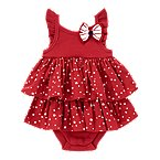 Star Dot Tiered Bodysuit Dress