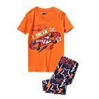 Skateboard Shortie Two-Piece Pajama Set