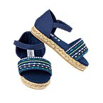 Embroidered Espadrille Sandals