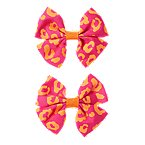 Leopard Bow Barrette 2-Pack