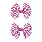 Zebra Bow Barrette 2-Pack