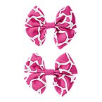 Giraffe Bow Barrette 2-Pack