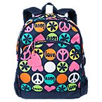 Peace Love Hearts Backpack