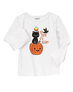 Halloween Kitty & Pumpkin Tee