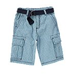 Belted Canvas Cargo Short
