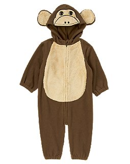 Monkey Hooded One-Piece Costume