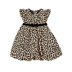Leopard Print Corduroy Bubble Dress