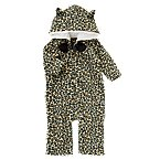 Leopard Print Microfleece Hooded One-Piece