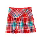 Ribbon Plaid Skirt