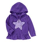 Ruffle Star Hooded Jacket