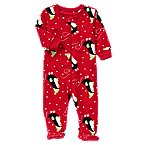 Skating Penguin Footed Microfleece Sleeper