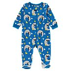 Mustache Moon Footed Microfleece Sleeper