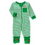Jolly Elf Footed Microfleece Sleeper