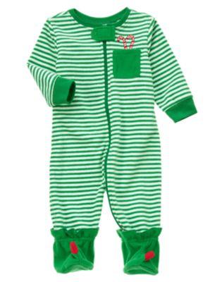 Jolly Elf Footed baby Sleeper