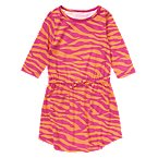 Zebra Stripe Tee Dress