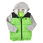 Double Sleeve Hooded Puffer Vest