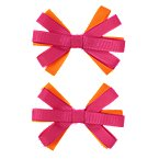 Ribbon Bow Barrettes 2-Pack